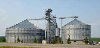 Elevatore di grano moderno Fotografia Stock Libera da Diritti