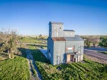 Elevatore di grano storico di Grover Fotografia Stock Libera da Diritti