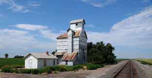 Elevatore di granulo del Kansas Immagini Stock Libere da Diritti