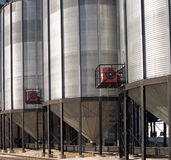 Elevatore di granulo del primo piano Fotografie Stock