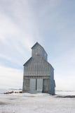 Elevatore di granulo in inverno Fotografia Stock