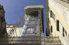 Elevatore di justa di Santa a Lisbona Fotografia Stock Libera da Diritti