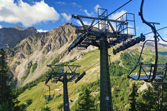 Elevatore di presidenza in alpi italiane Fotografia Stock Libera da Diritti