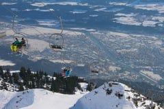 Elevatore nella stazione sciistica Innsbruck, Austria Fotografie Stock Libere da Diritti