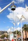 Elevatore panoramico il Bigo, Genova, Italia fotografie stock libere da diritti