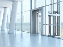 Elevatore trasparente Fotografie Stock Libere da Diritti