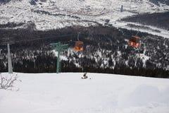 Elevatorer i bergen Arkivfoto