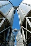 Elevatori di grano Fotografia Stock