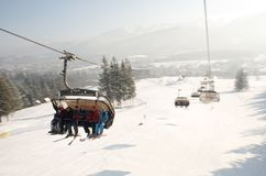 elevatorn poland skidar Royaltyfria Foton