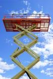 elevatorplattformen scissor Fotografering för Bildbyråer