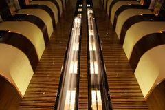 Elevators in atrium of hote Royalty Free Stock Photo