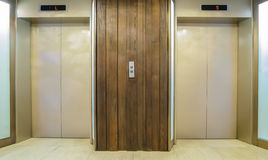 Elevators with closed door Stock Photos