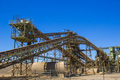 Elevators & Conveyors At Local Gravel Plant Stock Images