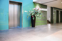 Elevators in entrance hall Stock Image