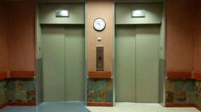 Elevators in office building Royalty Free Stock Images