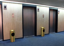 Elevators in the old hotel Royalty Free Stock Photos