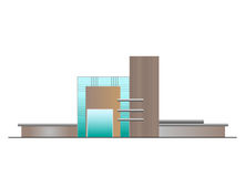 Elevazione della costruzione illustrazione di stock