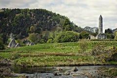 Eleve-se em Glendalough no tempo da mola e do outono Imagens de Stock