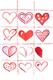 Eleven and half hearts. Royalty Free Stock Photo