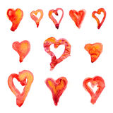 Eleven Hearts Stock Image
