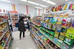 7-Eleven lager i stadens centrum Hong Kong Royaltyfri Bild