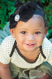 Eleven Month Old in Polka Dot Tutu royalty free stock photos