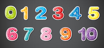 Eleven numerical figures Stock Photo
