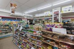 7-Eleven (oder 7-11) ist eine internationale Kette von Bequemlichkeits-stor Stockbilder