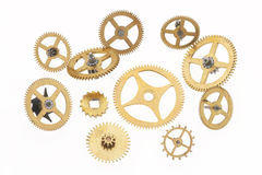 Eleven old little cogwheels Stock Image