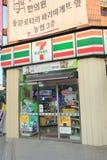 7-Eleven shoppar i Jeju, Sydkorea Royaltyfri Foto