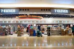 7-Eleven store. HONG KONG - CIRCA NOVEMBER, 2016: a 7-Eleven store at Hong Kong Internationa Airport. 7-Eleven is an international chain of convenience stores stock image
