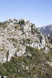 Eleventh century village of Gourdon. Eleventh century Medieval village of Gourdon in the French Alps Royalty Free Stock Images