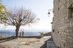 Eleventh century village of Gourdon Stock Image