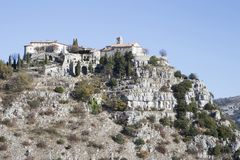 Eleventh century village of Gourdon. Eleventh century Medieval village of Gourdon in the French Alps Royalty Free Stock Photo