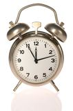 At the eleventh hour. Alarm clock (at the eleventh hour Royalty Free Stock Photography