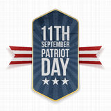 Eleventh September. Patriot Day Label Royalty Free Stock Photo