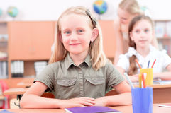 Elever i klassrum Arkivfoto