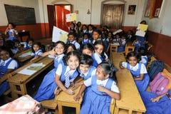 Elever i klassrum på dem skola av fortet Cochin Royaltyfria Bilder