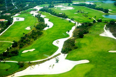 Elevevated view of golf course Royalty Free Stock Photo