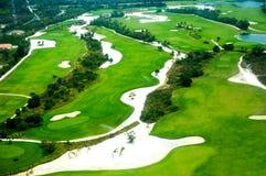Elevevated widok pole golfowe Zdjęcie Royalty Free