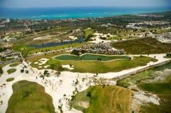 Elevevated widok pole golfowe Fotografia Royalty Free