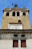 Elevi con l'orologio e le campane in Portobuffolè nella provincia di Treviso nel Veneto (Italia) Fotografia Stock Libera da Diritti