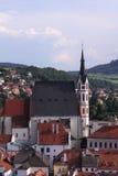 Elevi nella vecchia città del Ceco Fotografia Stock