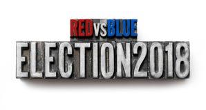 Elezione 2018 immagine stock