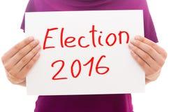 Elezione 2016 immagine stock libera da diritti