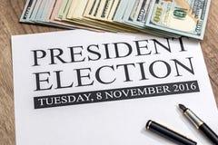 Elezione in bianco di presidente immagini stock libere da diritti