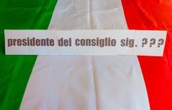 Elezione del ministro italiano dell'iniettore Fotografie Stock Libere da Diritti
