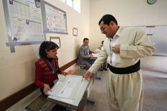 Elezione dell'Iraq fotografie stock