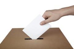 Elezione di scelta di politica della casella di voto di voto di scheda elettorale Fotografia Stock