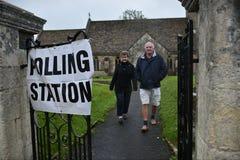 Elezione generale BRITANNICA Fotografia Stock Libera da Diritti